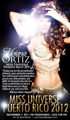 Viviana Ortiz - Miss Universe Puerto Rico 2011 & Miss Universe 2011 Semifinalist. Banner by: Jean Nieves ART & PHOTOGRAPHY