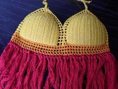 cropped em croche com bojo