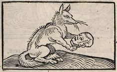 Illustrations of 'Aesop's Fables' Through the Ages  The Fox and the Man, illustrated by Alciato, 1531.