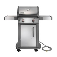 Weber Spirit S-210 2-Burner Natural Gas Grill in Stainless Steel-47100001 - The Home Depot