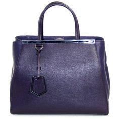 Fendi Amethyst Leather 2jours Elite Shopper