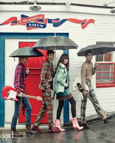 "koreanxmodel: ""Lee Cheolwoo, Ahn Seungjoon, Lee Hojung and Shon Minho for Vogue Girl """