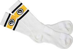 Sector Nine Skateboards Sector Nine Vintage Socks - White (1 Pair)