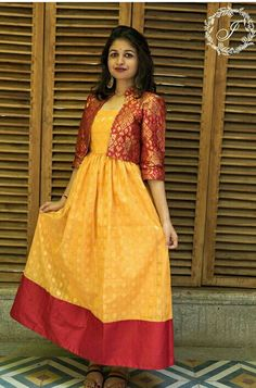 What To Do With Old Sarees - 20 Creative Things You Can DO - abandoned castles Shrug For Dresses, Indian Gowns Dresses, Trendy Dresses, Indian Dresses For Women, Indian Fashion Dresses, Lehenga Designs, Kurti Designs Party Wear, Gharara Designs, Frock Design