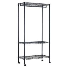 Bed Bath And Beyond Garment Rack Gorgeous Bed Bath & Beyond Oceanstar Garment Rack With Adjustable Shelves And Design Ideas