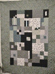 """This quilt was so fun to make, because it was """"design as you go"""".  All you have to do is make all your blocks turn the same size..."""