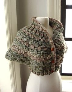 knitted capelet
