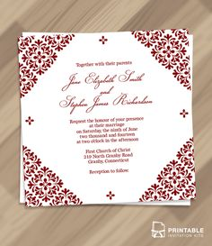 Patterned Borders Detail Square Invitation
