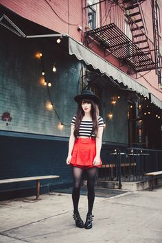 Suspenders and Stripes For A French Twist by @Rachel-Marie Iwanyszyn on @Rebecca Leckman Alexander http://shar.es/S8Yzo