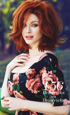 ilikeprettyclothes: shmemson: Christina Hendricks - Flare by Max Abadian, May 2013 le sigh Oh, be still my beating heart. That floral dress AND the woman in the floral dress.