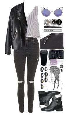 """""""10.15.15"""" by lea-maire ❤ liked on Polyvore featuring Topshop, Apiece Apart, Clare V., Essie, Bobbi Brown Cosmetics, Noir Jewelry and Simply Vera"""