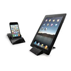 Multipurpose Desktop Stand for Smartphones and Tablets..  Multi-purpose desk top stand that is suitable for mobile devices, smartphones and tablets. The portable folding design makes it easy to carry and the two different viewing angles offer great flexibility.