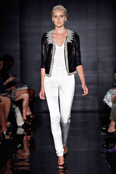 Reem Acra Spring 2012...bling leather jacket