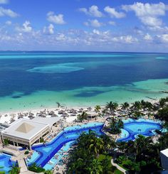 The view from a room at the Hotel Riu Caribe in Cancun, Mexico.