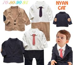http://babyclothes.fashiongarments.biz/  2016 New Baby Rompers Toddlers Baby Boy 2 pcs Set  Gentleman Ties Rompers +Jackets Wedding Boys Clothes Roupas Infantis Menino, http://babyclothes.fashiongarments.biz/products/2016-new-baby-rompers-toddlers-baby-boy-2-pcs-set-gentleman-ties-rompers-jackets-wedding-boys-clothes-roupas-infantis-menino/,   made of cotton    handsome tie formal wedding romper     onesie for wedding, party or any special occasion    available in 4 sizes for baby boy ages…