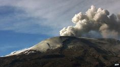 """The Nevado del Ruiz volcano in central Colombia is likely to erupt """"within days or weeks,"""" RCN Radio reported Wednesday. The Volcanological and Seismological Observatory of Manizales has been monitoring the volcano… Colombia News, Colombia South America, Strange Noises, Cool Landscapes, Natural Disasters, Geology, Mount Rainier, Mother Nature, Worlds Largest"""