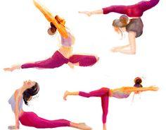 yoga inspiration illustrations