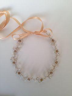 Daisy crown, daisy tiara, daisy headband, daisy hairband, bridal tiara, bridal headpiece, whimsical headpiece, handmade headband