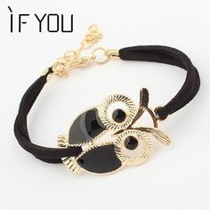Brand Design Hot Sale Fashion Luxury Lovers Vintage Lovely Totem Owl Bracelets Jewelry For Women Wholesale Free Shipping PT36