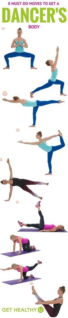 Get strong and sleek muscles with these 8 exercises for a dancers body. Try this quick workout morning and night and see how good strong feels!