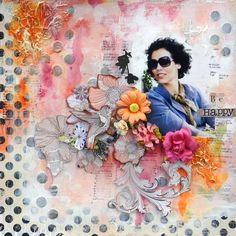 Layout by Solange Marques for Prima using the Rondelle collection