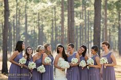 WeddingPartyPoses_LavenderBridesmaidsDresses_PurpleBridesmaidsDresses_WhiteandPurpleWedding_WhiteBouquets_HoneyLakePlantation_NorthFloridaWeddingPhotographer www.ashleydaniellphotography.com » North Florida, Tallahassee, and South Georgia Wedding Photography