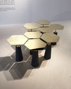 The trio of three female designers behind Egg Collective not only displayed… Trendy Furniture, Modular Furniture, Art Deco Furniture, Steel Furniture, Design Furniture, Table Furniture, Luxury Furniture, Coffe Table, Coffee Table Design