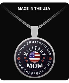 Proud Military Mom Necklace Are you an awesome, proud mom who raised up a military hero?