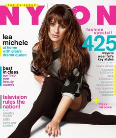 September 2012 issue on stands next week! #LeaMichele #Nylonmag