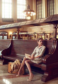 """""""Brief Encounter"""" by Annie Leibovitz for Vogue"""
