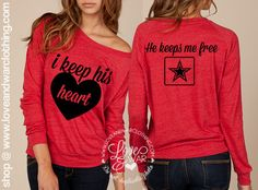 I keep his heart he keeps me free slouchy by Loveandwarofficial, $37.95