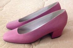 NEW VINTAGE - Womens Purple Classic Pumps - Chunky Heels - Shoes - Size 8 #Dyelights #Heels