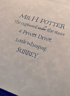 'Harry Potter' Hogwarts acceptance letter template.