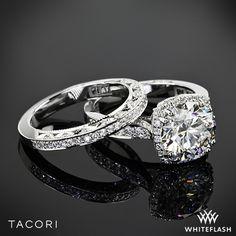 Platinum Tacori Dantela Crown Diamond Engagement Ring