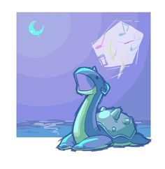 lapras >>>this is kind of sad when you realize that there are only two moves with singing in lived in Pokemon... and this could either be that it's tired, or...