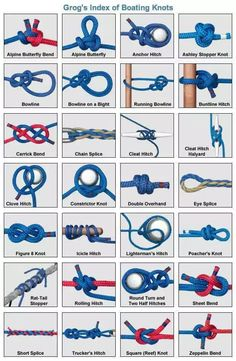 Camping Knots, Camping Campingknots KnotsCamping Knots, Camping Campingknots KnotsKnot tying tutorials for each type of knot. Images for . images every .Knot tying tutorials for each type of knot. Images for . pictures every Quick Release Knot, Sailing Knots, Nautical Kitchen, Survival Knots, Survival Skills, Survival Supplies, Types Of Knots, Knots Guide, Invisible Stitch
