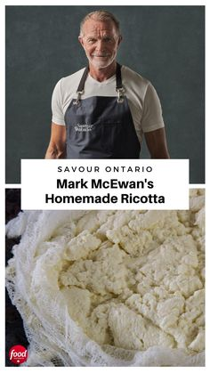Chef Mark McEwan reveals how to make your own fresh ricotta cheese at home (trust us, you'll never buy store-bought again). Low Car Recipes, Beef Recipes, Italian Recipes, Cooking Recipes, Recipies, Home Made Ricotta Cheese, Ricotta Cheese Recipes, Canadian Dishes, Canadian Cuisine