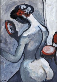 "amare-habeo: ""  Auguste Chabaud (French, 1882-1955) Nude with Mirror, 1907 Oil on panel, 76 x 54 cm """