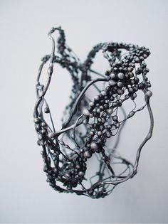 Unique big silver bracelet with drops by Giardinoblu on Etsy, $560.00