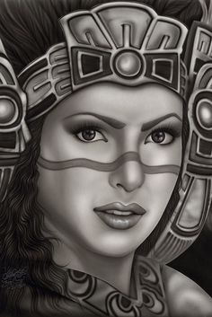 Aztec Princess Art Print from Black Market Art #InkedShop #art #princess #print