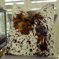 Thomas Collection Luxury Decorative Pillows Throws Handmade In Usa Cowhide Sofa Pillow White Brown Premium Brazilian Throw