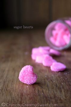 How To Make Sugar Hearts CrunchyCreamySweet.com