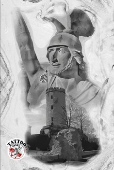 Hermannsdenkmal arminius Sparrenburg Motividee von der Tattooinsel Tattoos, Artwork, Bielefeld, Tatuajes, Work Of Art, Auguste Rodin Artwork, Tattoo, Artworks, Tattos