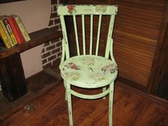Декупаж: стул в стиле шебби-шик. ФОТО #6