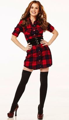 thigh high boots with socks | How to Wear Flannel Plaid