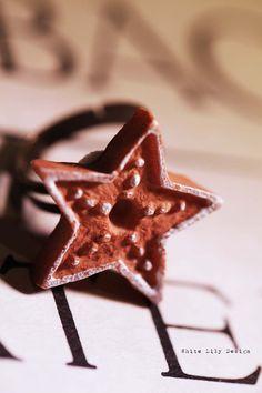 Star Ring . Gingerbread