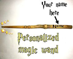 Personalised magic wand Harry Potter look. Your name by NayasArt