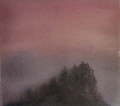 """""""Mystery Hill"""" watercolor on paper, Valerie Claff, 2010"""