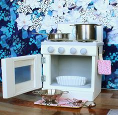 30 Nifty Small Kitchen Design and Decor Ideas to Transform Your Cooking Space - The Trending House American Girl Furniture, Girls Furniture, Doll Furniture, Kitchen Furniture, Furniture Buyers, Furniture Design, Kitchen Stove, Toy Kitchen, Kitchen Decor