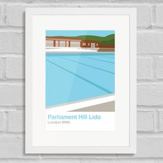 Place in Print Parliament Hill Lido White Frame